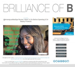"""Brilliance of B"" shares skin care tips from Amerejuve MedSpa."