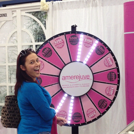 Brides won big at Amerejuve's booth at the Houston Bridal Extravaganza.