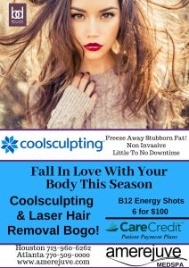 Laser hair removal offers, Coolsculpting offers Houston