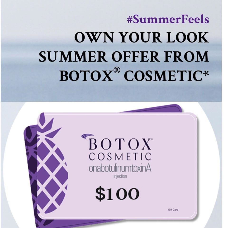 Get $100 Botox Cosmetic Gift card for ONLY $75.